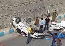 تصادف شدید در زیر گذر گچساران+تصاویر