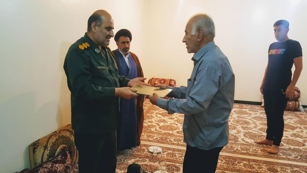 دیدار فرمانده سپاه ناحیه گچساران با خانواده شهیدان + تصاویر