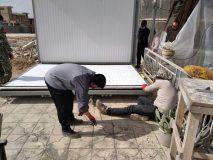 بسیج دانشجویی پای ثابت کمک به زلزله زدگان سی سخت + تصاویر